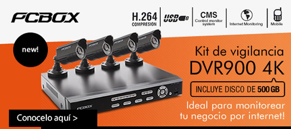 PCBox Kit de Vigilancia DVR900 4K